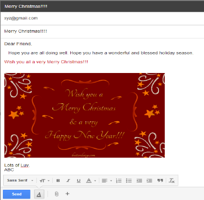 Email Sample To Show Inline Images In Gmail  Greeting Email Sample